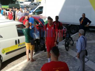 Benevento partenza ritiro Berat Djimsiti