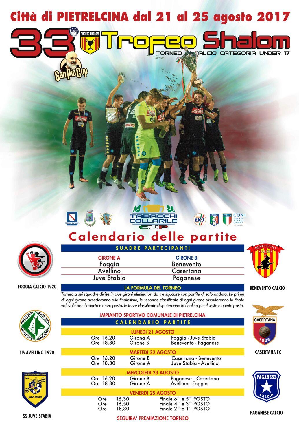 Calendario Sportivo.Presentato Il Calendario Del Trofeo Shalom A Pietrelcina