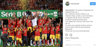 Buzzegoli Benevento Instagram Addio