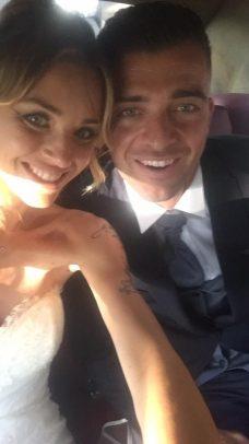 Emanuele Padella del Benevento con la moglie Francesca